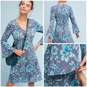 NWT MAEVE X-Large Blue Floral FLORENCE Knit Dress